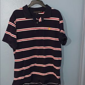 🍀U.S. Polo XL Navy blue with red /white stripes